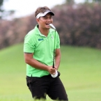 mondilla laugh after he made green in 2nd shots hole 13
