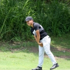 tabuena reacts after he misses his putt in hole 2