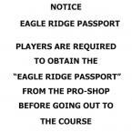 EAGLE RIDGE PASSPORT
