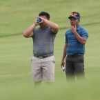 salahog and braga checking their distance in 16