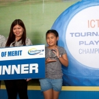 order of merit winner tony lascuna ,receiver his trophy by cheryl antonette lascuna (daughter),cheryl alferez(wife)