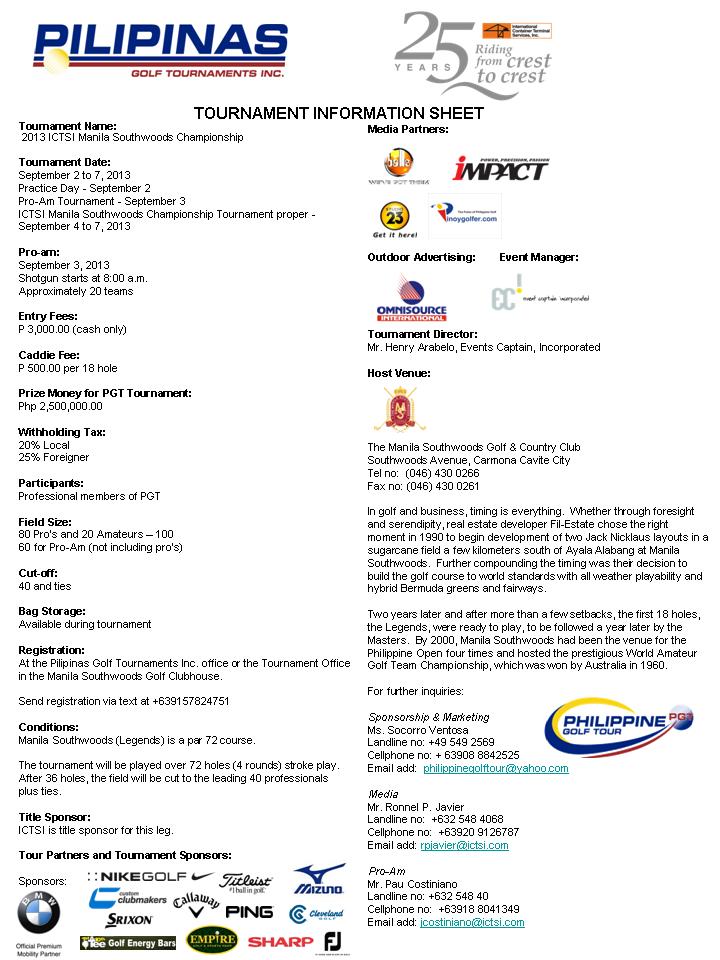 ICTSI Manila Southwoods infosheet 2013