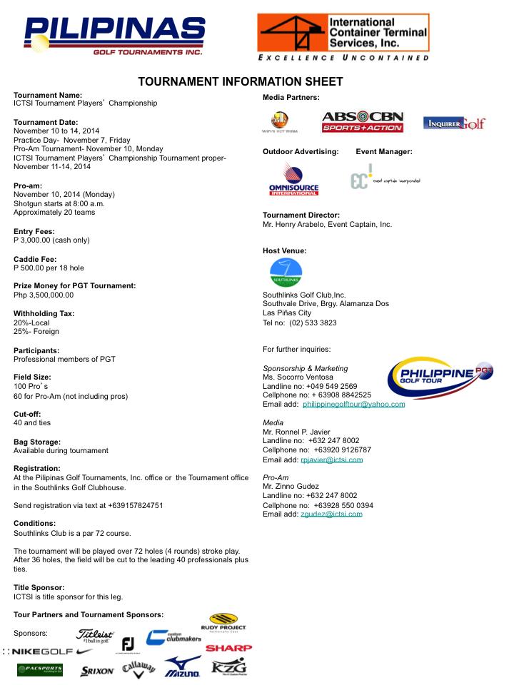 ICTSI Players Cship Info Sheet