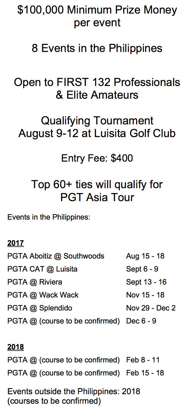 PGTA Announcement